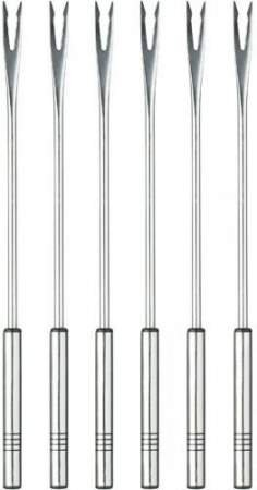 Fondue forks meat 6pcs (Stainless steel) - SPRING